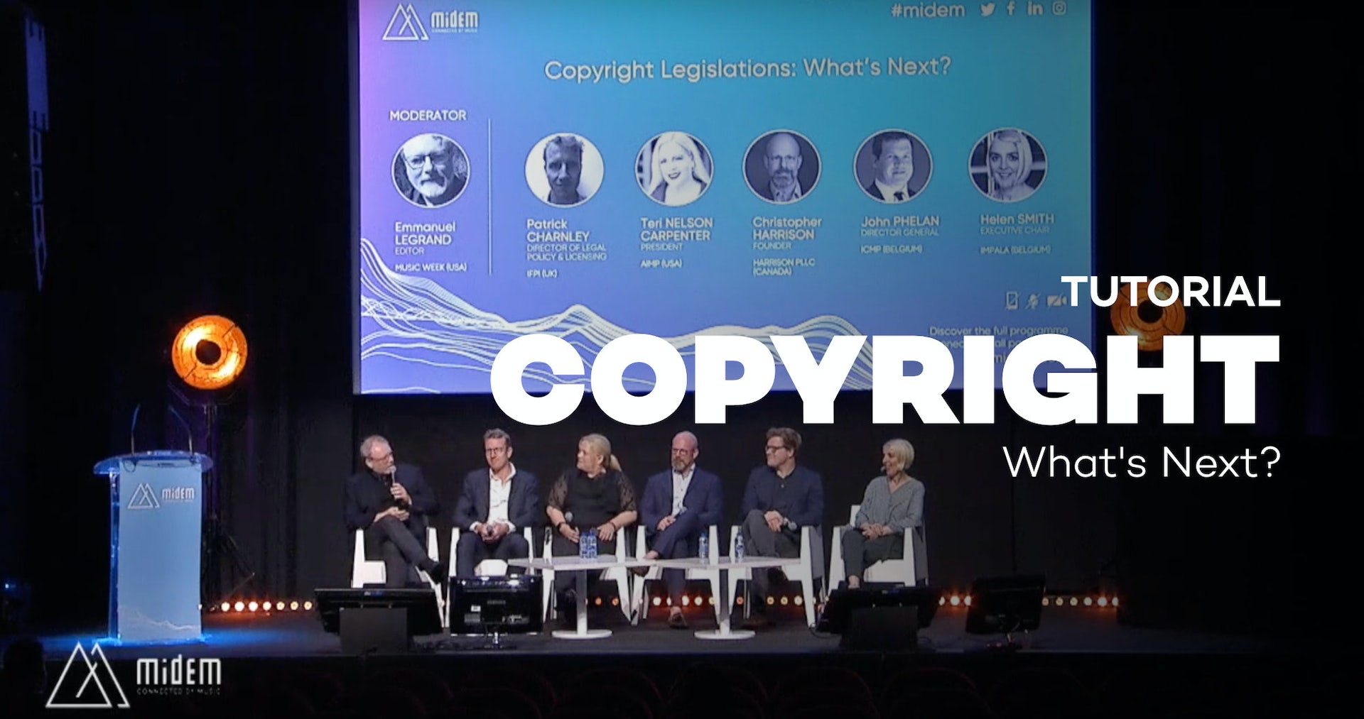 Copyright Legislations: What's Next? - Midem 2019