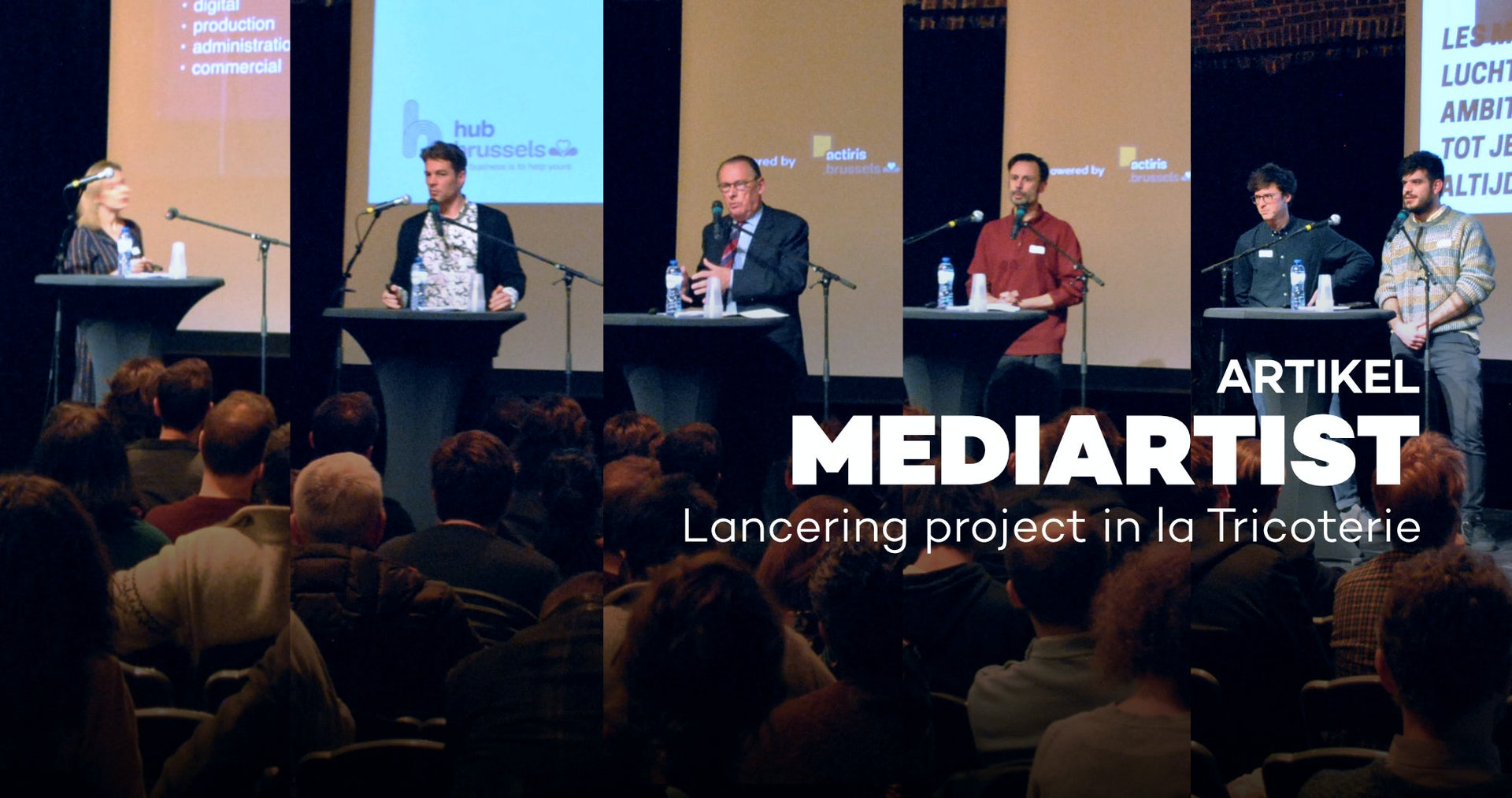 Lanceringsevent voor het project mediartist