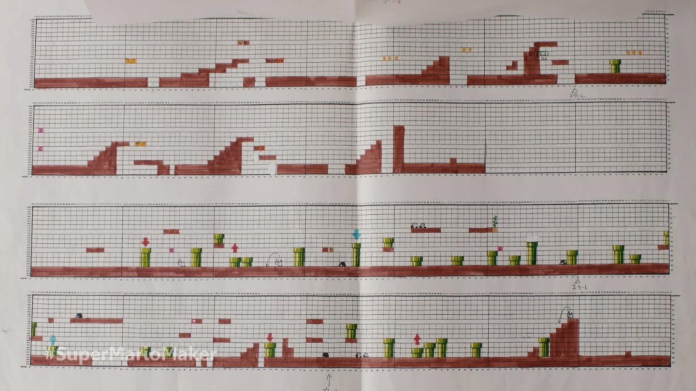 The original Super Mario game was designed on graph paper