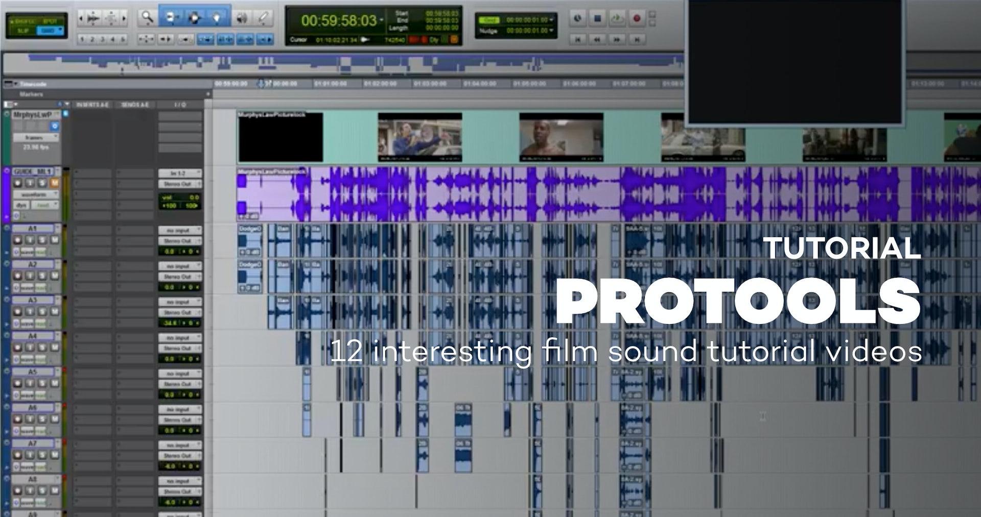 12 interesting film sound tutorial videos