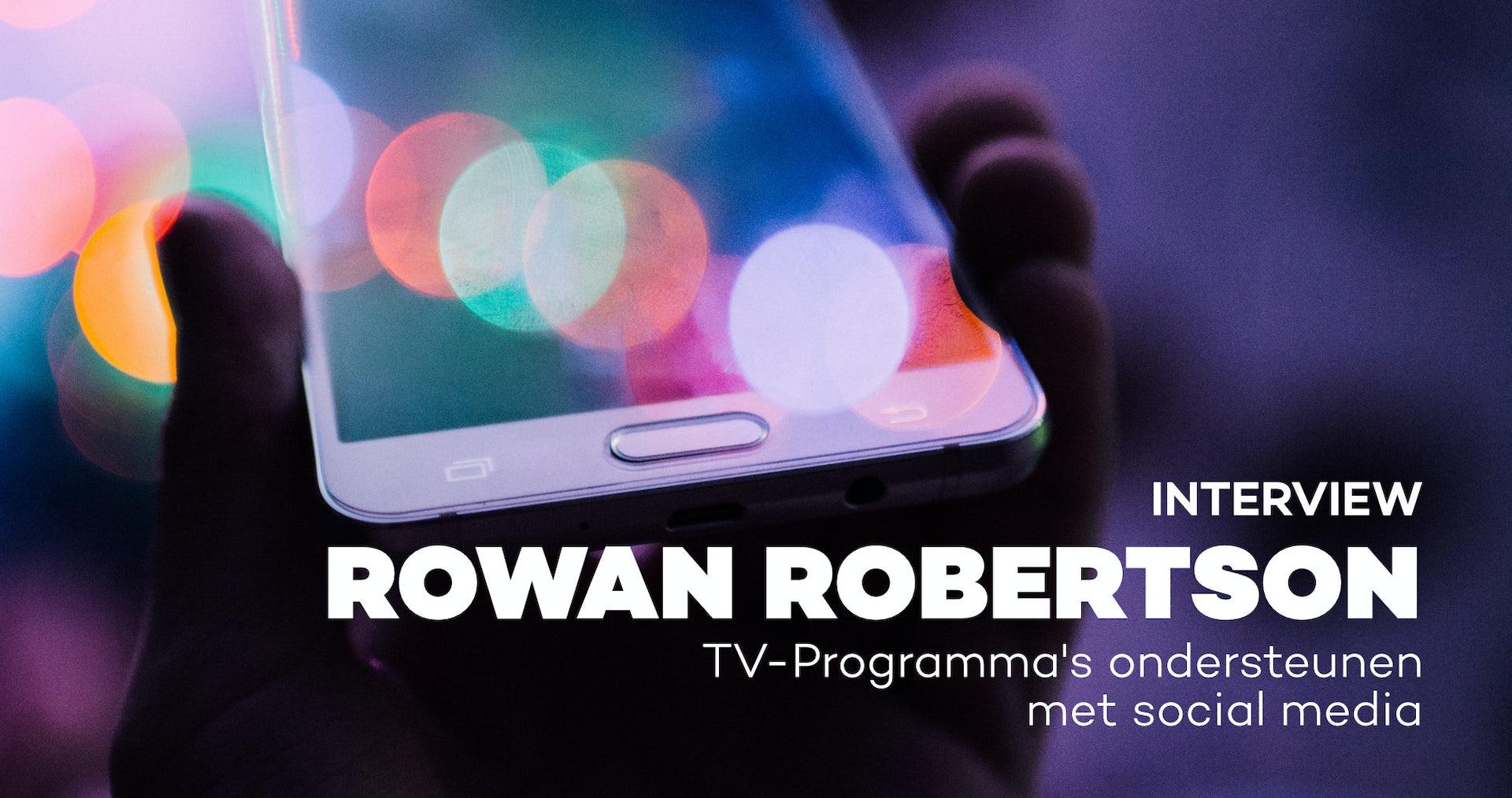Tv-programma's ondersteunen met social media