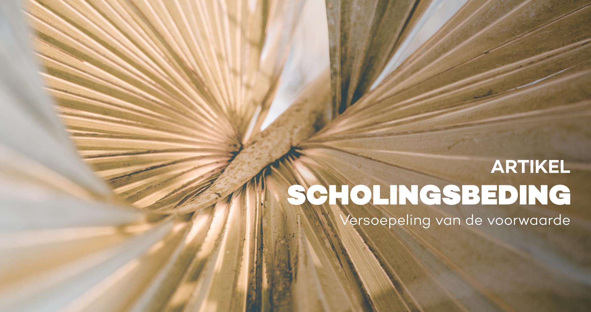 Scholingsbeding