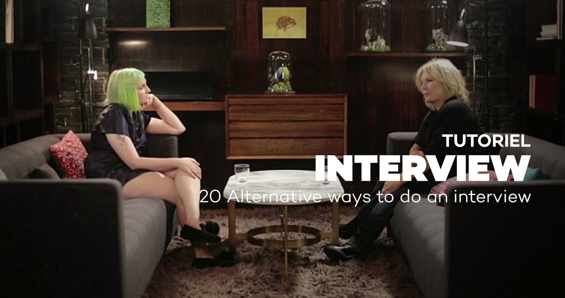 20 ALTERNATIVE WAYS TO DO AN INTERVIEW